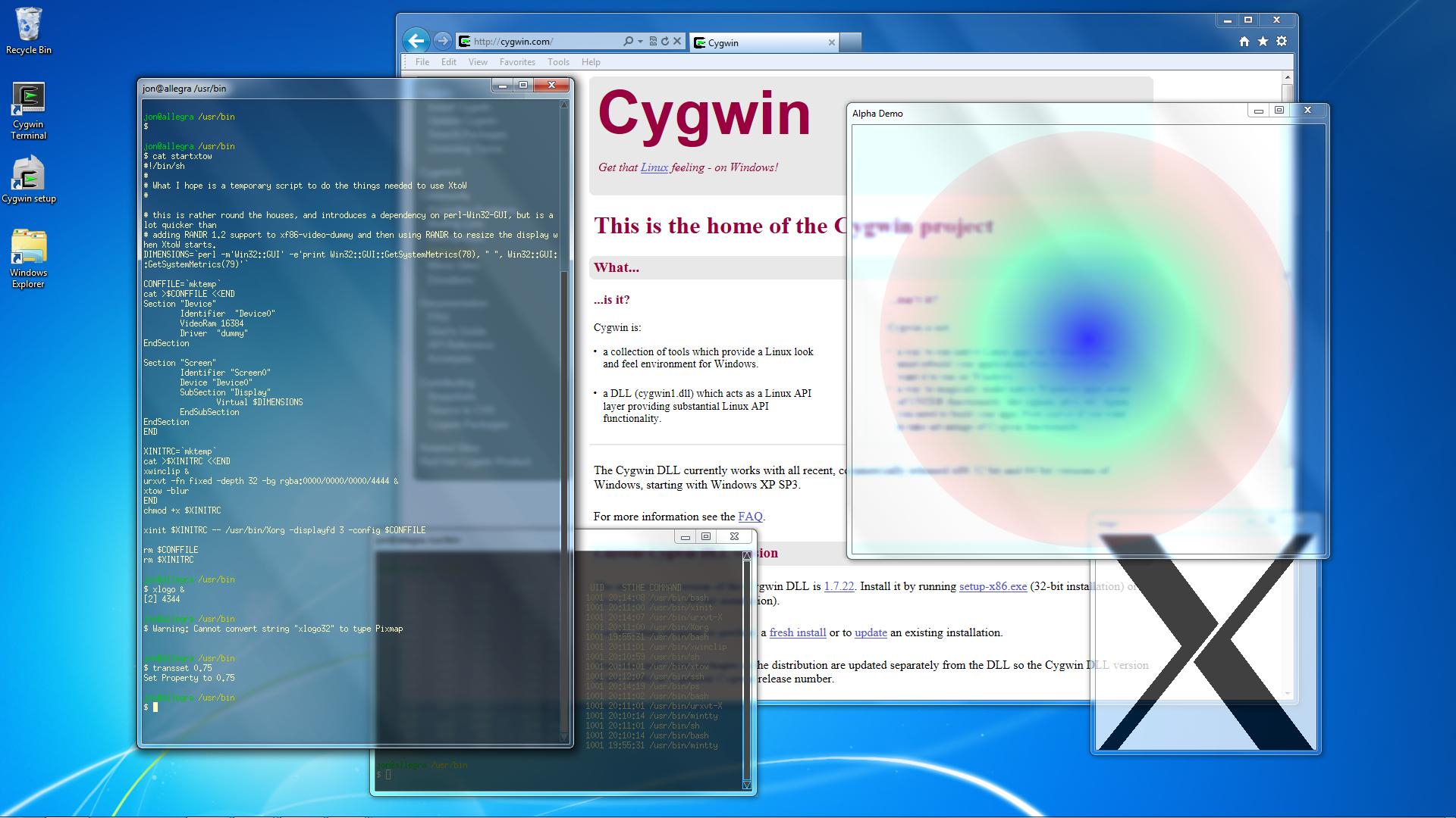 Windows10up.com Download Free Cygwin X - Screenshots